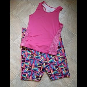 Girls Justice leggings with MTA Sport  Tank